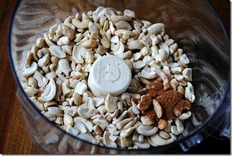 cashews in food processor