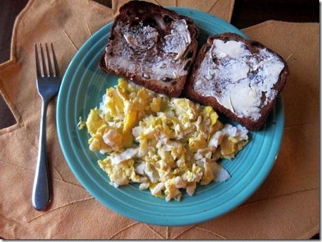 eggs with cinnamon raisin toast