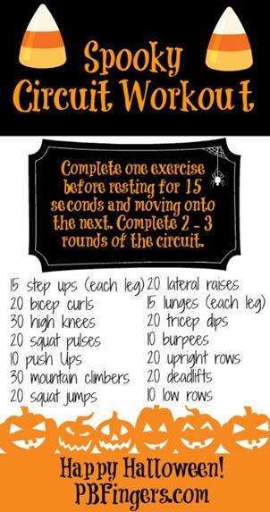 halloween circuit workout