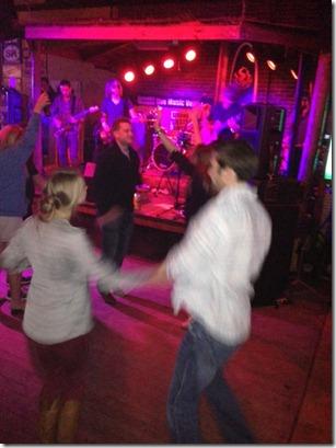 Dancing at Beach Club in Siesta Key
