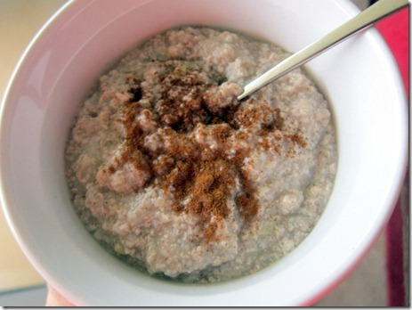 oats with banana and egg whites
