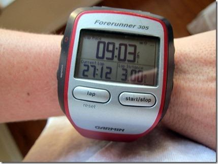 3 mile run time