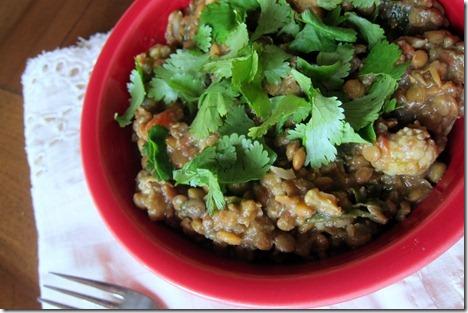Crock Pot Curry Lentils