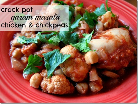 Crock Pot Garam Masala Chicken and Chickpeas