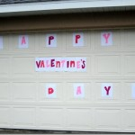Happy Valentine's Day Garage Door Sign