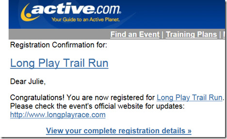 Long Play Trail Run