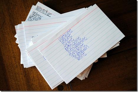 NASM notecards