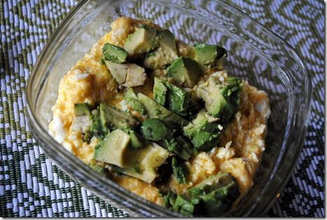 eggs grits avocado