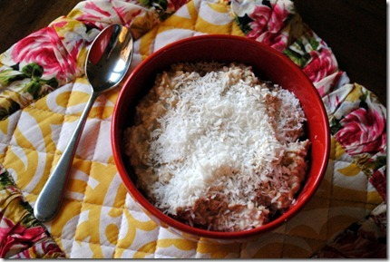 overnight oats with unsweetened coconut