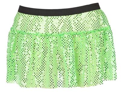 Green sparkle running skirt