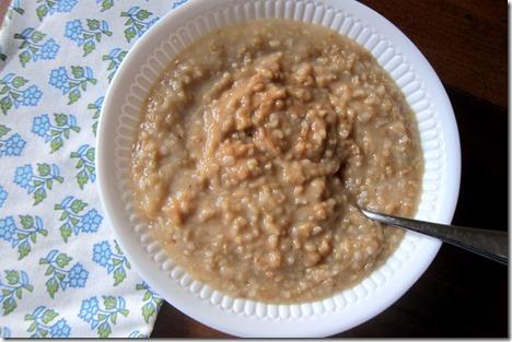 peanut butter steel cut oats