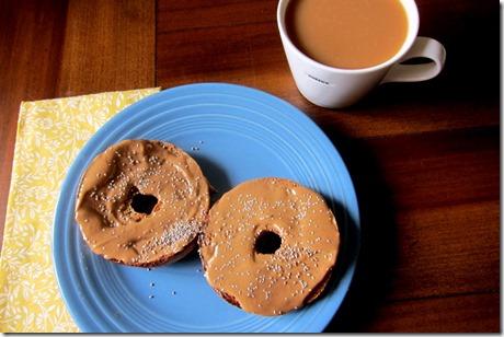 peanut butter chia seeds bagel