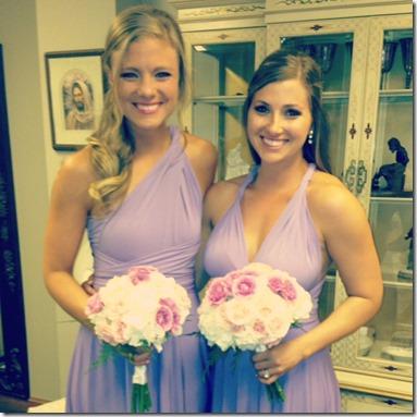 Convertible bridesmaid dresses lilac