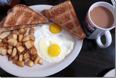 Darrell's Diner eggs and toast