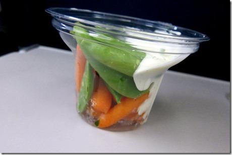 carrots snap peas ranch dressing