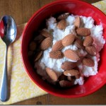 cottage cheese with almonds