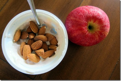 yogurt almonds apple