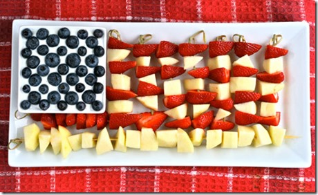 Flag Fruit Kebabs