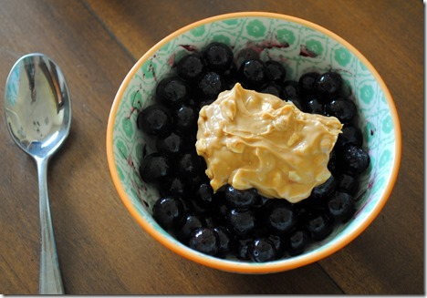 blueberries and almond butter