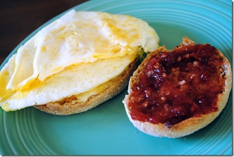 egg and jelly sandwich