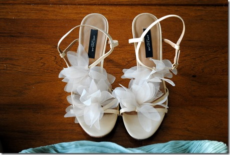 Ann Taylor Nude Shoes with Flowers