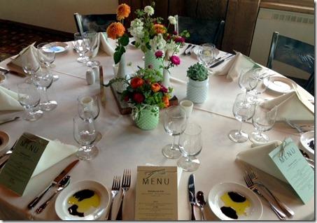 Mountain Wedding Table Setting
