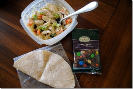 chicken salad with trail mix