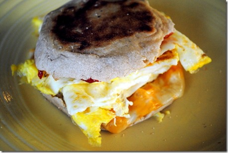 egg jelly cheese sandwich