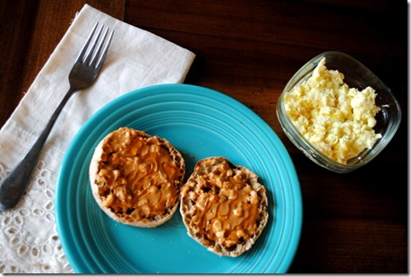 english muffin with barney butter