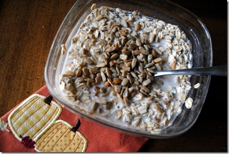 sunflower seed overnight oats