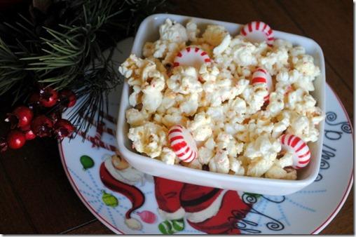 White Chocolate Peppermint Popcorn