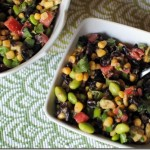 Black Bean and Edamame Salad