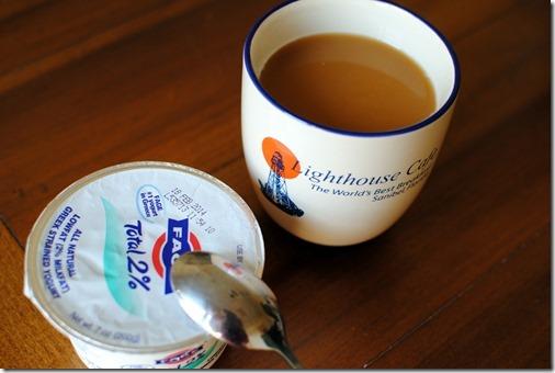 Greek Yogurt and Coffee