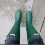 Hunter rain boots green