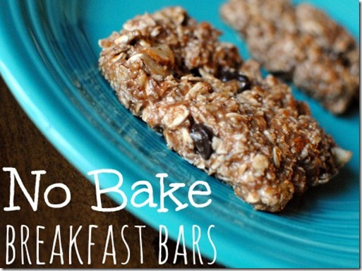 No Bake High Protein Breakfast Bars