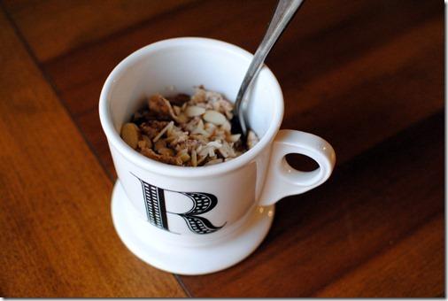 oatmeal in a mug
