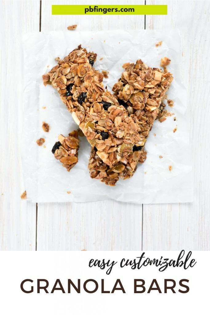 No Bake Easy Customizable Granola Bars