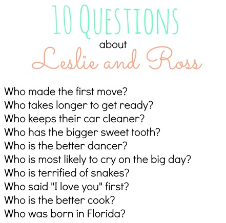 10 Questions Bridal Shower Game