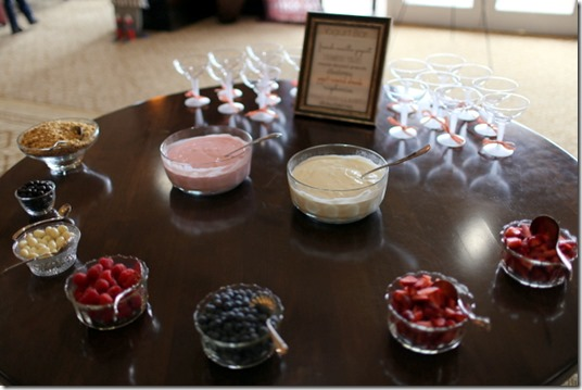 Bridal Shower Yogurt Bar