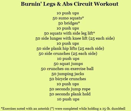 Burnin' Legs and Abs Circuit