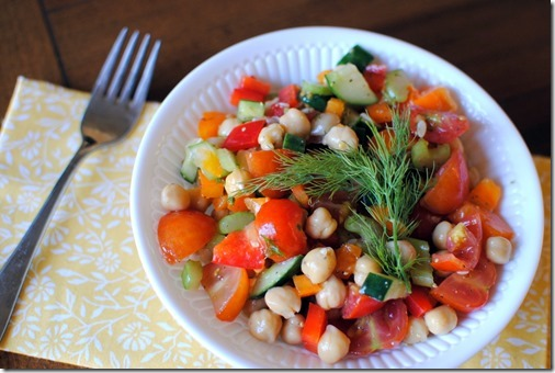 Chickpea Salad with Dill and Lemon
