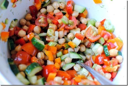 Dill Chickpea Salad