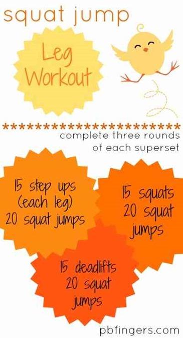 Squat Jump Leg Workout