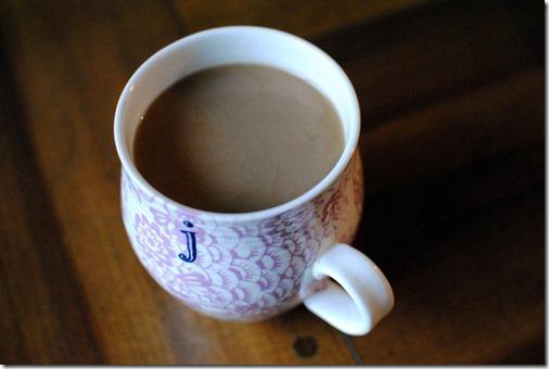 Anthropologie J initial mug