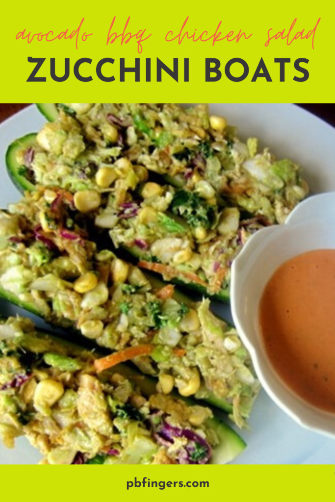 Avocado BBQ Chicken Salad Zucchini Boats