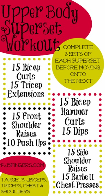 Upper Body Superset Workout
