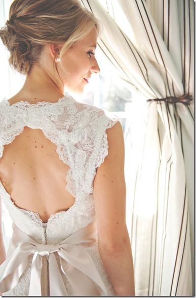 Lace Circle Back Wedding Dress