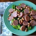chicken sausage and chickpeas
