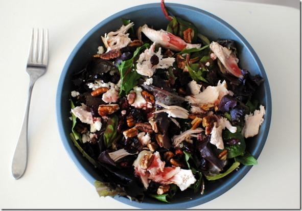 Big Salad with Chicken Pecans