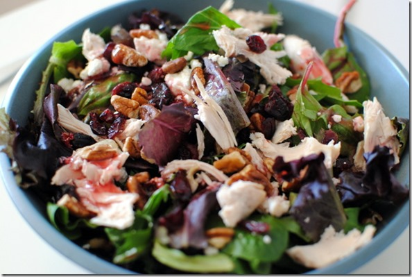 Salad with Chicken and Cranberries